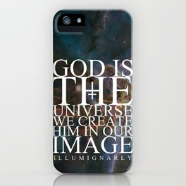 God is the universe iPhone Case