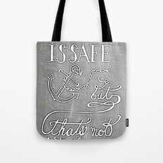 Chalkboard hand-lettered motivational quote Tote Bag