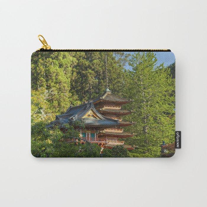 Pagodas (Tō) in Japanese Tea Garden, Golden Gate Park, San Francisco, California Carry-All Pouch