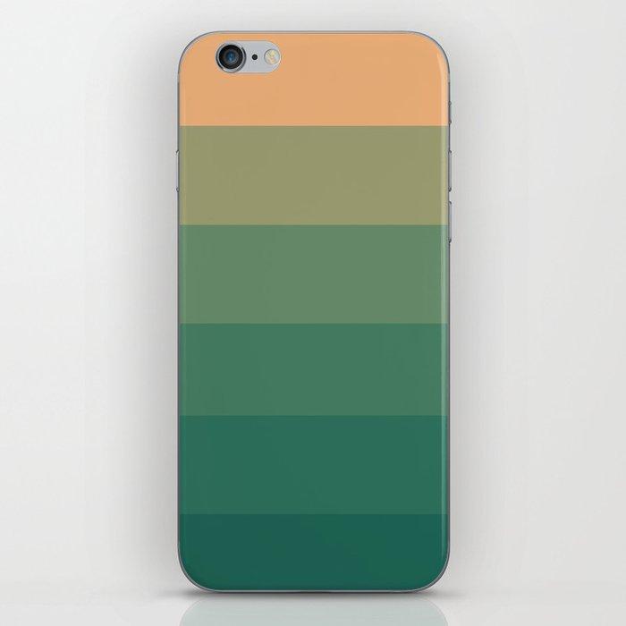 Peach Green Tea Ombre iPhone Skin