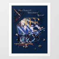 superwholock Art Prints featuring Superwholock by RooDesign
