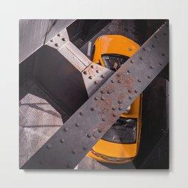 NYC cab Metal Print