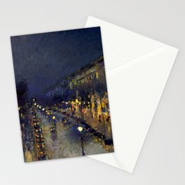 "Camille Pissarro ""The Boulevard Montmartre at Night""(1897) Stationery Cards"
