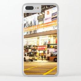 hongkong street night Clear iPhone Case