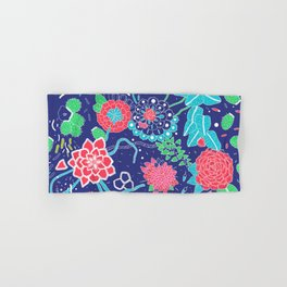 Flowers and Cactus Hand & Bath Towel