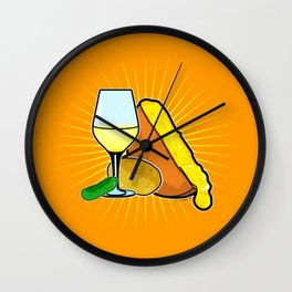 Swiss Cheese Raclette Party Wall Clock