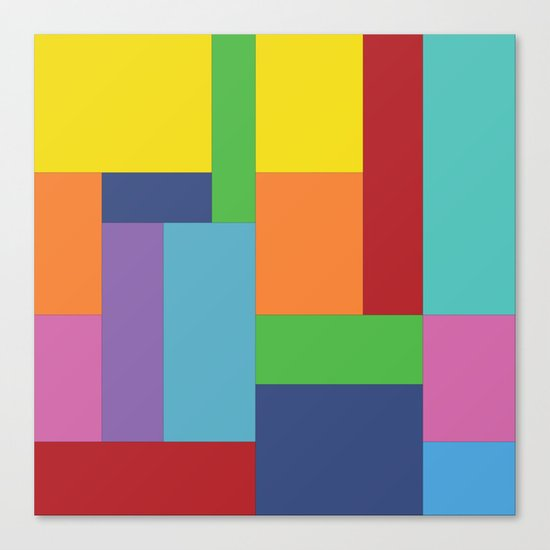 Multicolor square Canvas Print