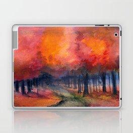 Nighttime Autumn Landscape Nature Art Laptop & iPad Skin