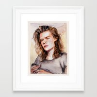 coconutwishes Framed Art Prints featuring Harry watercolors III by Coconut Wishes