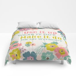Use it up floral quote  Comforters