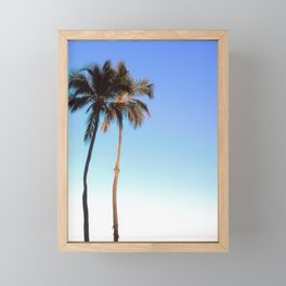 Florida Palm Trees and Blue Sky Framed Mini Art Print