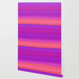 Orange & Purple Stripes | Bright ombre gradient pattern Wallpaper