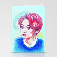 shinee Stationery Cards featuring SHINee Minho by sophillustration
