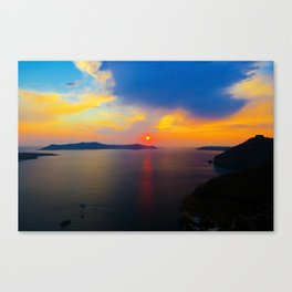 Fira,Sunset Canvas Print
