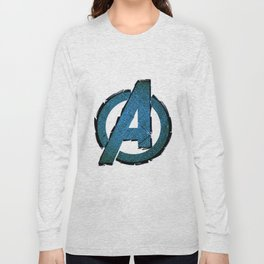 UNREAL PARTY 2012 AVENGERS LOGO FLYERS Long Sleeve T-shirt