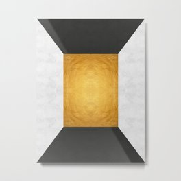 Golden Geometric Art XIX Metal Print