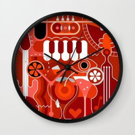 Music and Cocktail Party Wall Clock