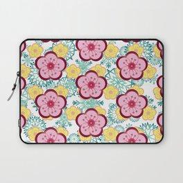 Sweet Plum Flower with Jade Snow Flake Laptop Sleeve