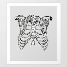 Ribcage Tattoo Art Print