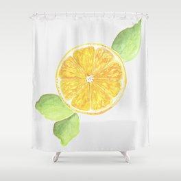 Yellow Lemon Slice Shower Curtain