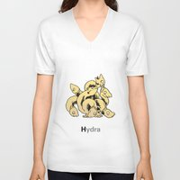 hydra V-neck T-shirts featuring Hydra by James Courtney-Prior
