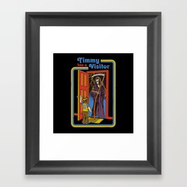 TIMMY HAS A VISITOR Framed Art Print