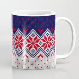 Winter knitted pattern 11 Coffee Mug