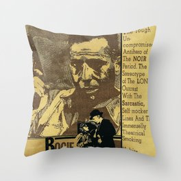 """Bogie"" - by Fanitsa Petrou Throw Pillow"