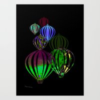 ballon Art Prints featuring Ballon by Lydia Wienberg