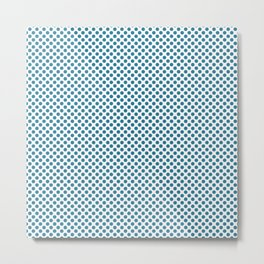 Jelly Bean Blue Polka Dots Metal Print