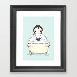 Nightmare Bath  Framed Art Print