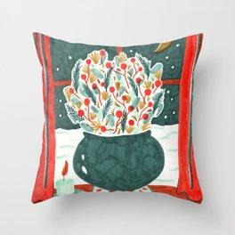 Winter Solstice Still Life by Amanda Laurel Atkins Throw Pillow