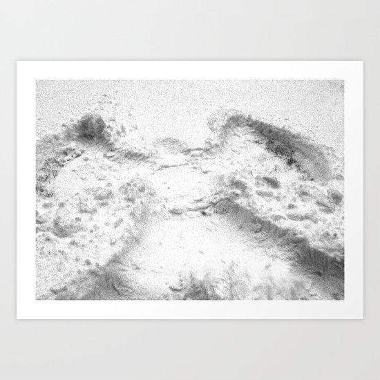 Joy and Snow Angels   Art Print