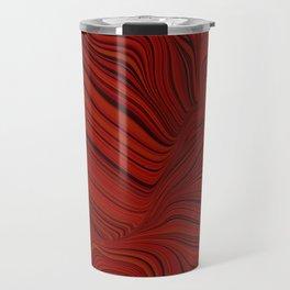 RALLY deep red and black abstract swirls design Travel Mug