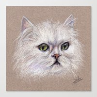 persian Canvas Prints featuring Persian cat by Pendientera