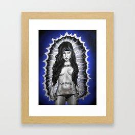 Santa Chola Framed Art Print