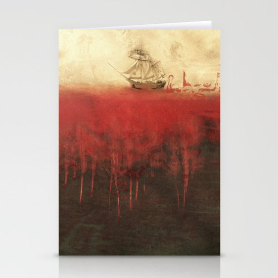 Sailing in dreams Stationery Cards