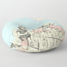 Frolicking Bunnies Floor Pillow