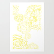 Bloom - Yellow Art Print