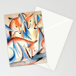 """Franz Marc """"Four foxes"""" Stationery Cards"""