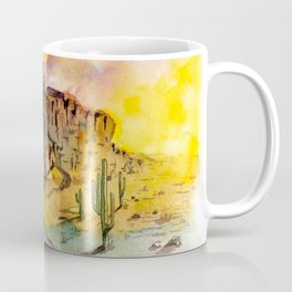 The Superstition Mountains Sunrise Coffee Mug