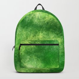 Organic Green Abstract Painting Backpack