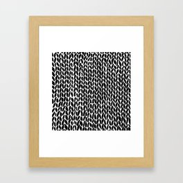 Hand Knit Zoom Framed Art Print
