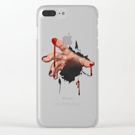 Bloody Zombie Hand Clear iPhone Case