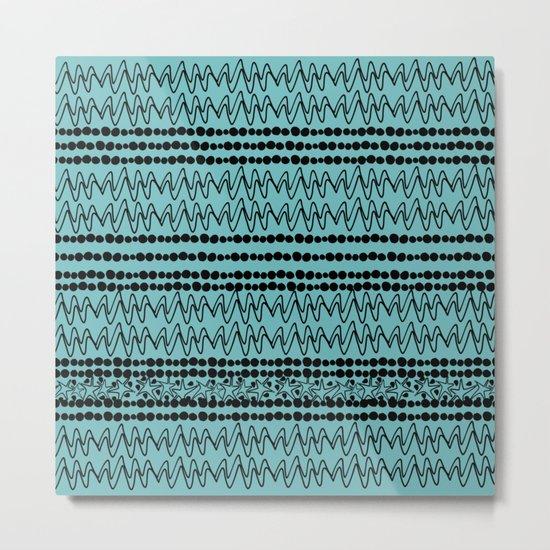 squiggle lines 2 Metal Print