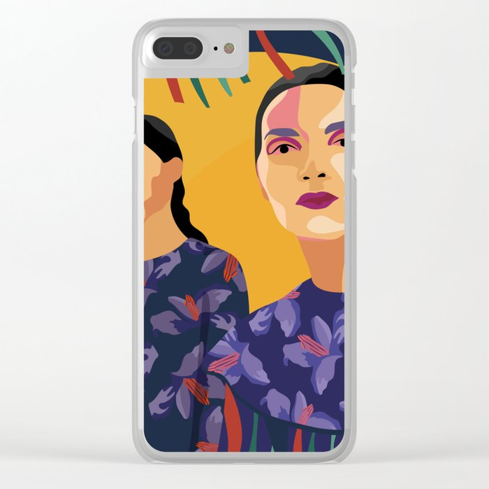 Womanity - The inner other one - Model#1.3 - fashion illustration Clear iPhone Case