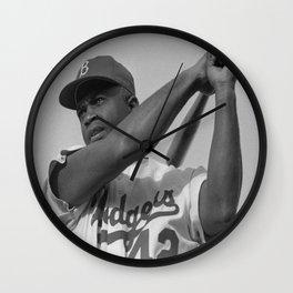 jackie Robinson poster Wall Clock
