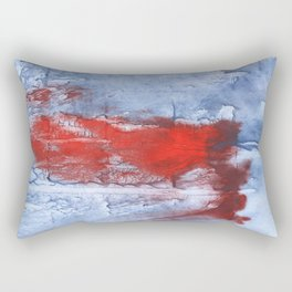 Red blue steel colorful wash drawing design Rectangular Pillow