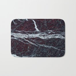 Black marble with white vains marble print luxuous real rock marble surface texture Bath Mat