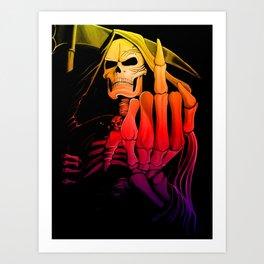 Digitally edited Painting 'Grim Reaper' 2 Art Print